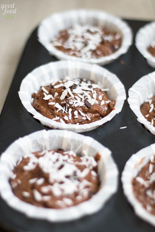 muffin cocco e cioccolato precottura