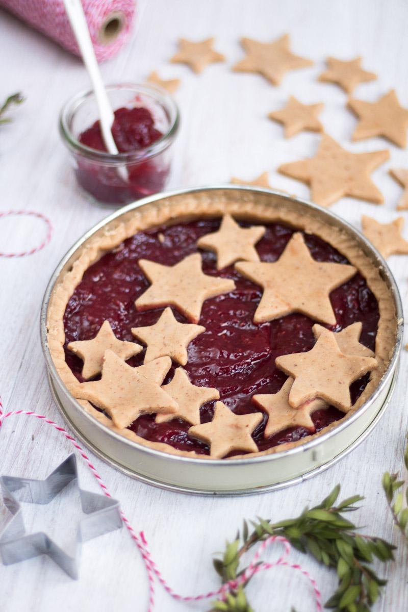 linzer torte senza zucchero stelle