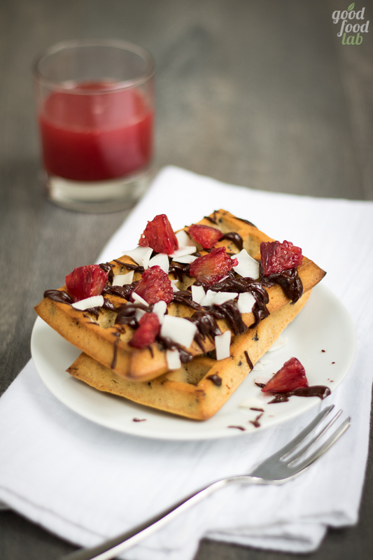 vegan waffle cocco coconut cioccolato chocolate