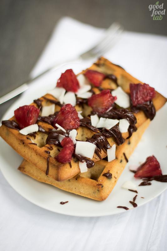 vegan waffle chocolate coconut cioccolato cocco