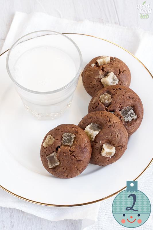 2 dicembre: vegan cookies allo zenzero candito