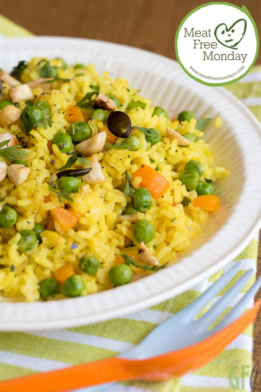 Meat free Monday: basmati pilaf con piselli