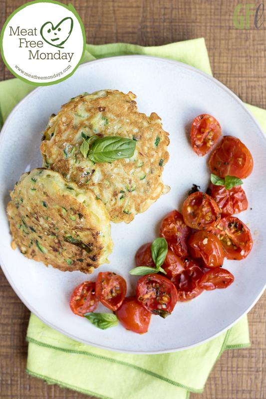 Zucchini fritters con pomodorini sfiziosi