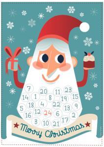 calendario dell'avvento montessori
