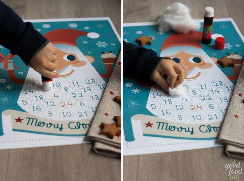 Il nostro Calendario dell'Avvento montessoriano, illustrato da Sonia Cattaneo, per insegnare anche ai più piccoli la successione di numeri e giorni, e introdurli alla comprensione dello scorrere del tempo. www.GoodFoodLab.it