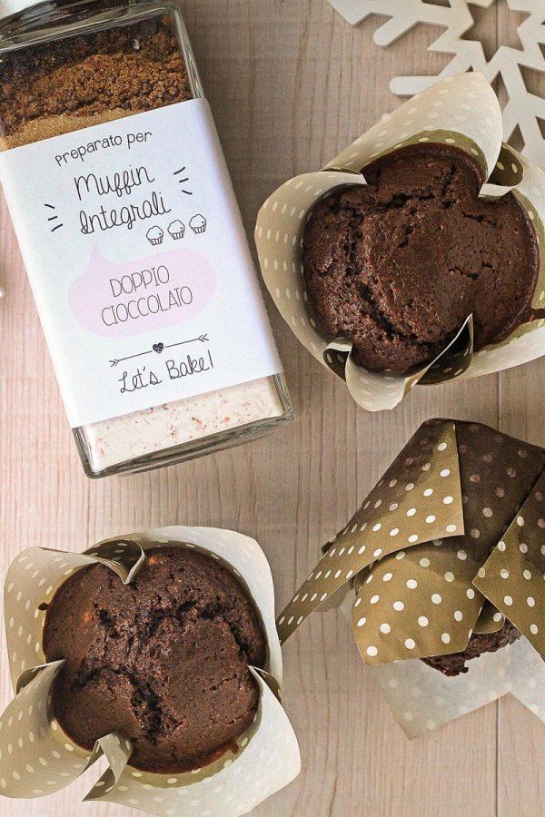 I muffin al doppio cioccolato di Gaia