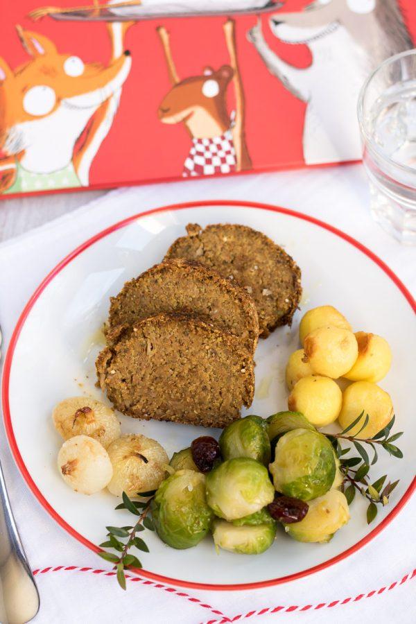 La Cena di Natale: polpettone vegano ai funghi, con tre contorni