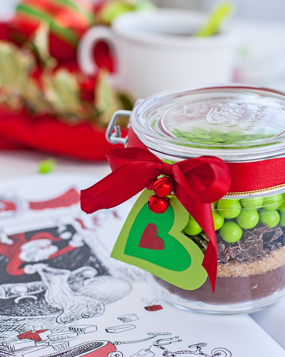 preparato per cioccolata calda del Grinch
