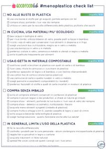 meno plastica check list consigli per ridurre la plastica