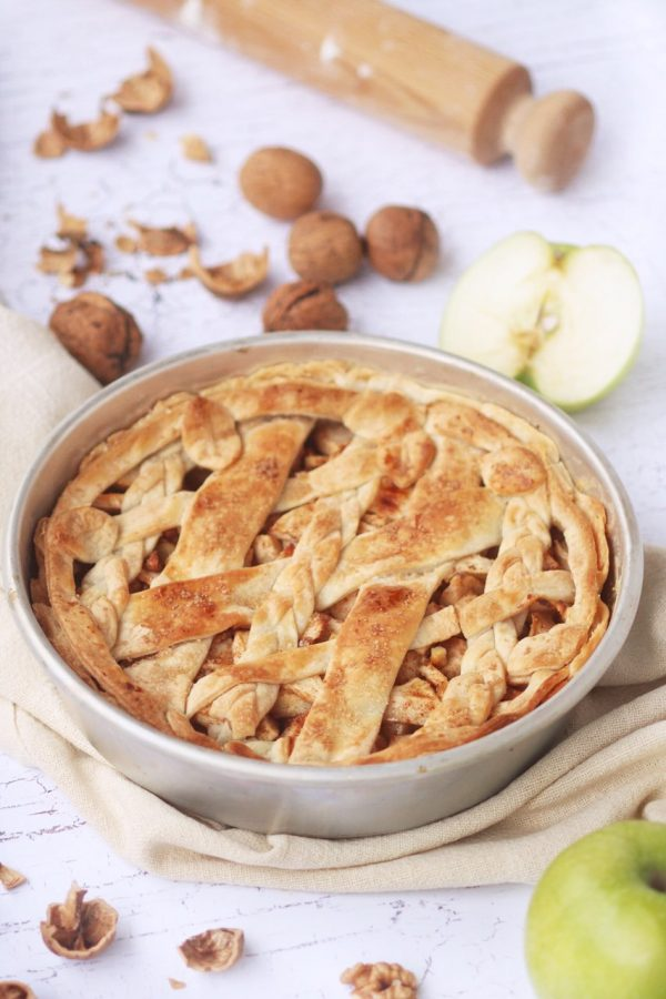 Apple pie speziata per il nostro menù Thanksgiving vegetariano