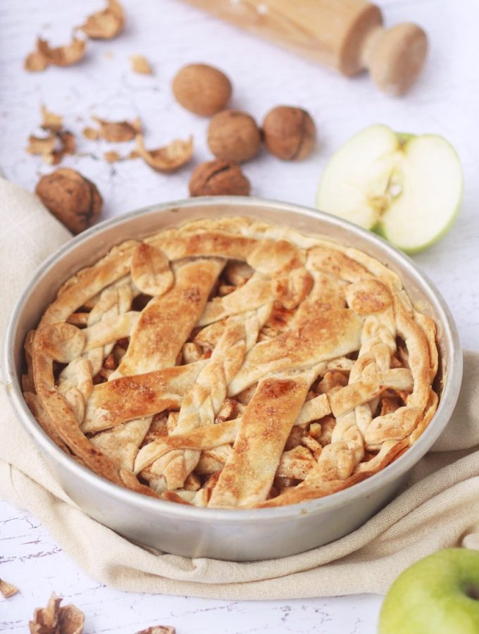 Apple pie speziata per il nostro menù Thanksgiving vegetariano