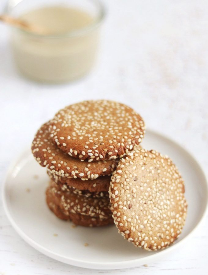Tahini cookies healthy biscotti al tahini