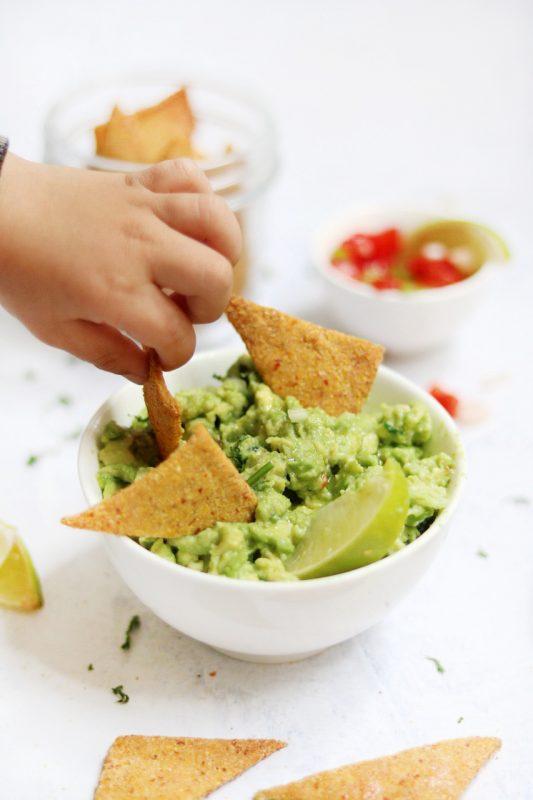 guacamole messicano e nachos fatti in casa
