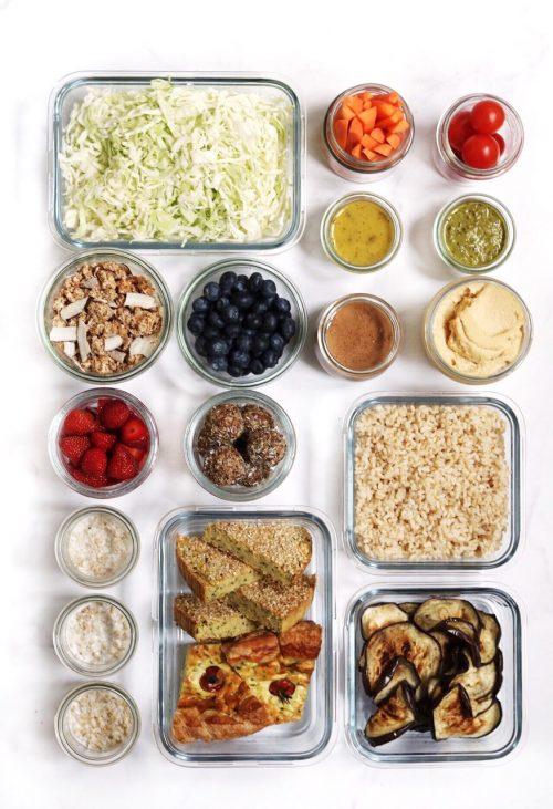 meal prep organizzazione in cucina