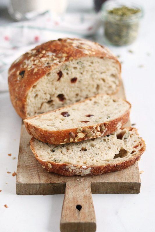 pane di Natale senza impasto