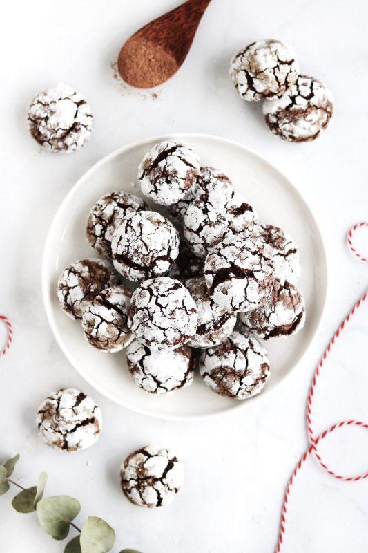 choco crinkle cookies vegan