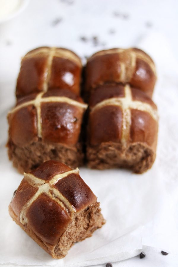 hot cross buns al cacao