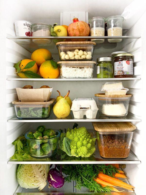 organizzazione frigo senza plastica