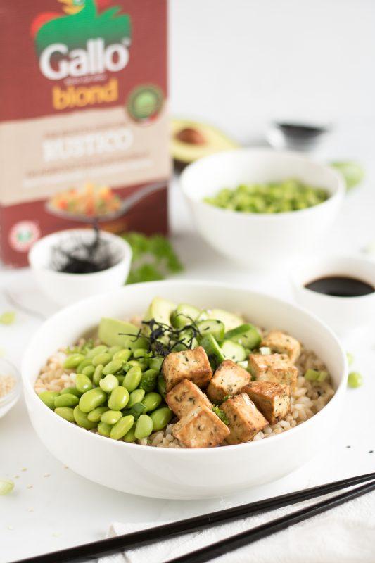chirashi veg con tofu croccante