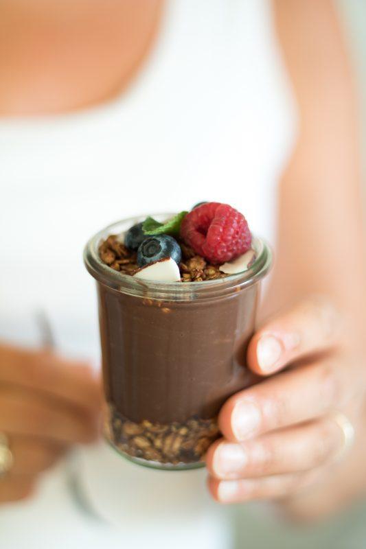 bicchieri golosi al cioccolato con Sojasun